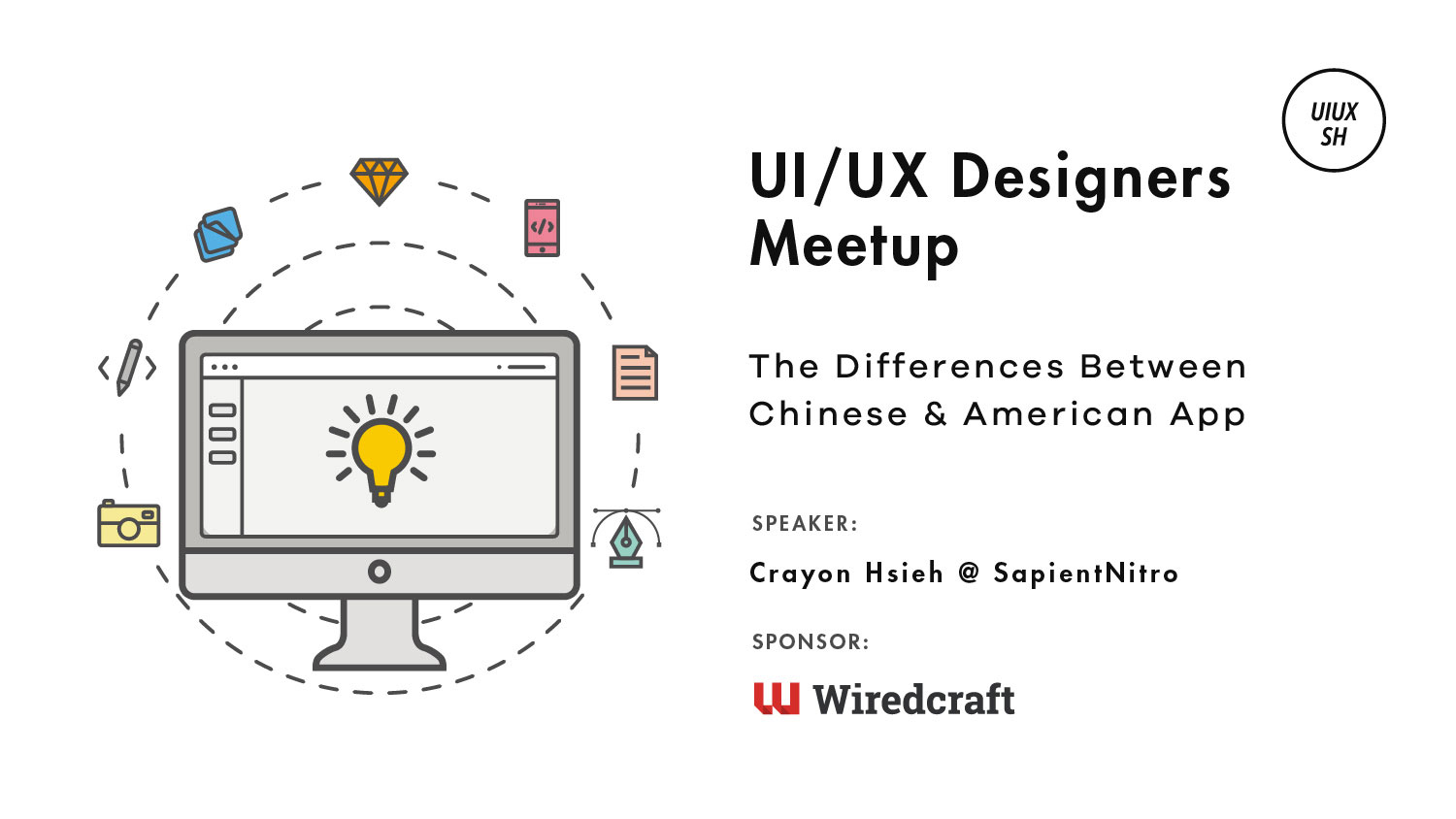 Logo for our Shanghai Meetup about UI/UX differences on mobile between app in China and America