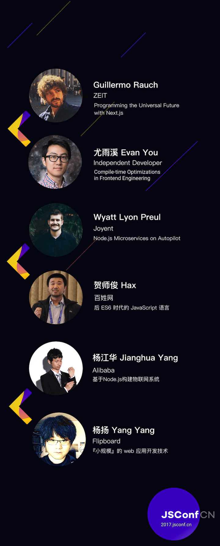 2017 JSConf China speakers announced