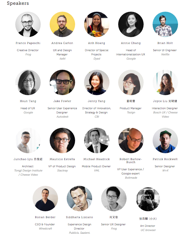 Confirmed Speakers for UI/UX Conf