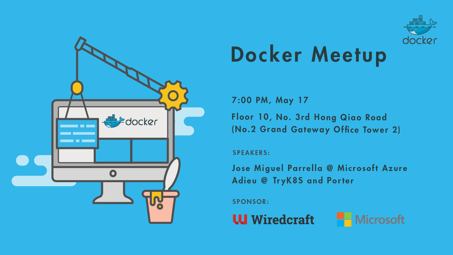 Come join Wiredcraft and Microsoft at the first ever Docker Meetup in Shanghai, May 17