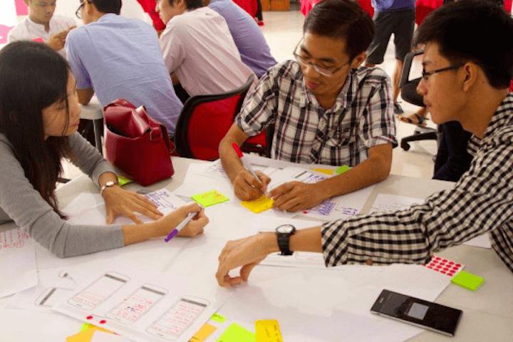 MaePaySoh Hack-a-thon team planning