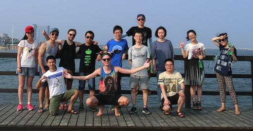 Team photo on the dock!