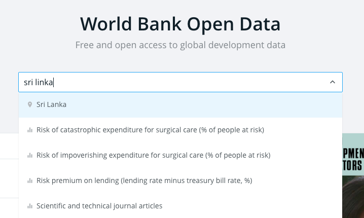 World Bank open data site